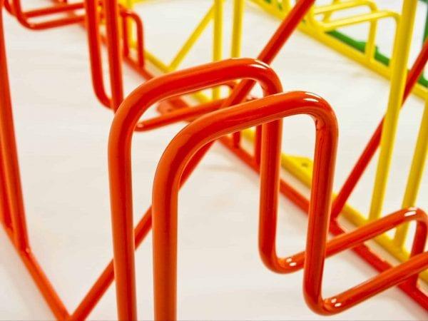 Rainbow Line Cykelställ närbild