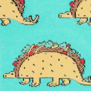 De snygga knähöga strumporna Tacosaurus av hög kvalitet från Sock It To Me köper du hos Define Me